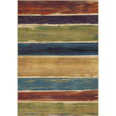 Stretched Lines Multi 5 ft. x 8 ft. Indoor Area Rug