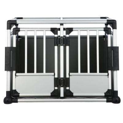 37.25 in. L x 34.5 in. W x 27 in. H Double Door Metallic Transport Crate
