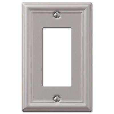 Ascher 1 Gang Rocker Steel Wall Plate - Brushed Nickel