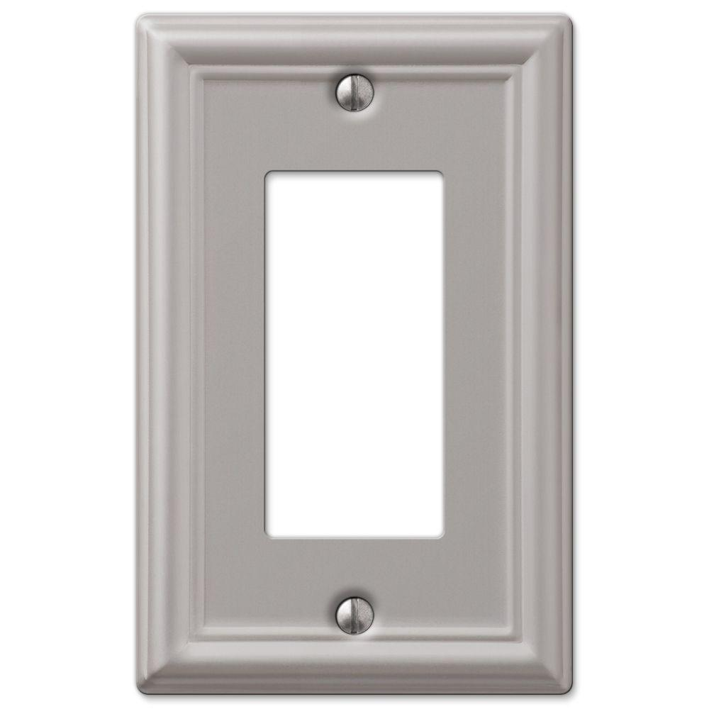 Hampton Bay Ascher 1 Decora Wall Plate Brushed Nickel Steel