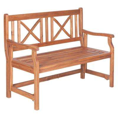 Charming Wood Folding Outdoor Bench