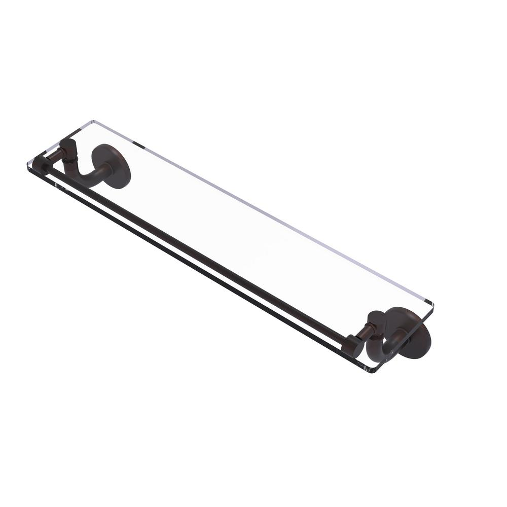 Allied Brass Remi Collection 22 in. Glass Vanity Shelf with Gallery Rail in Venetian Bronze