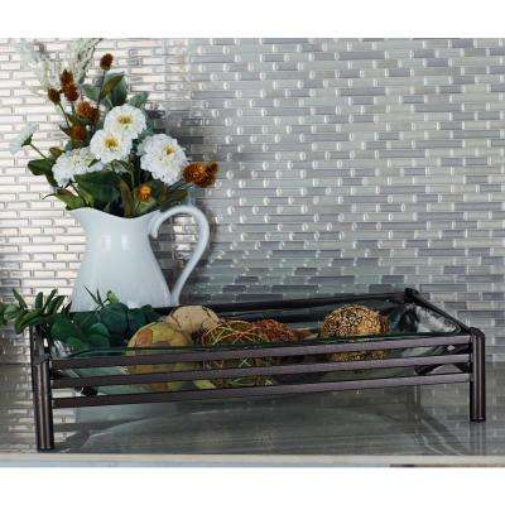 Clear Decorative Glass Bowl with a Metallic Black Base  sc 1 st  The Home Depot & Blacks - Decorative Plates \u0026 Bowls - Decorative Storage - The Home Depot