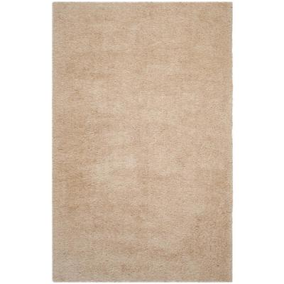 Venice Shag Champagne 5 ft. x 7 ft. Area Rug