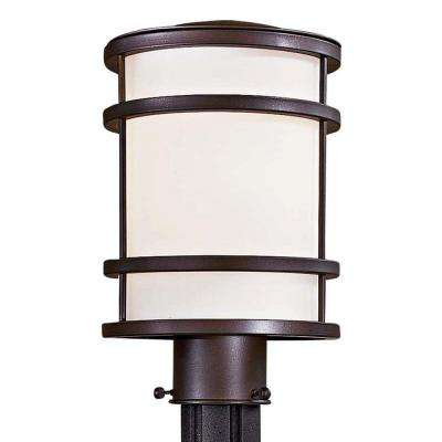 Bay View 1-Light Oil Rubbed Bronze Outdoor Post Lantern