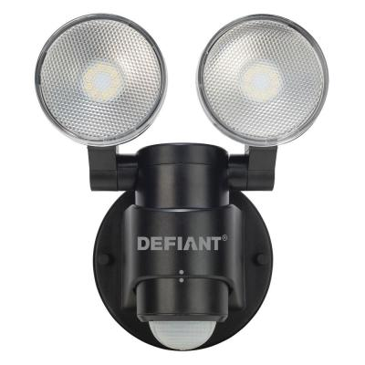 180-Degree Black Motion Activated Outdoor Integrated LED Flood Light