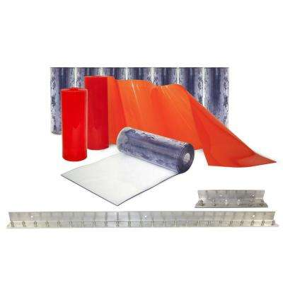 Clear-Flex II 5 ft. x 8 ft. PVC Strip Door Kit