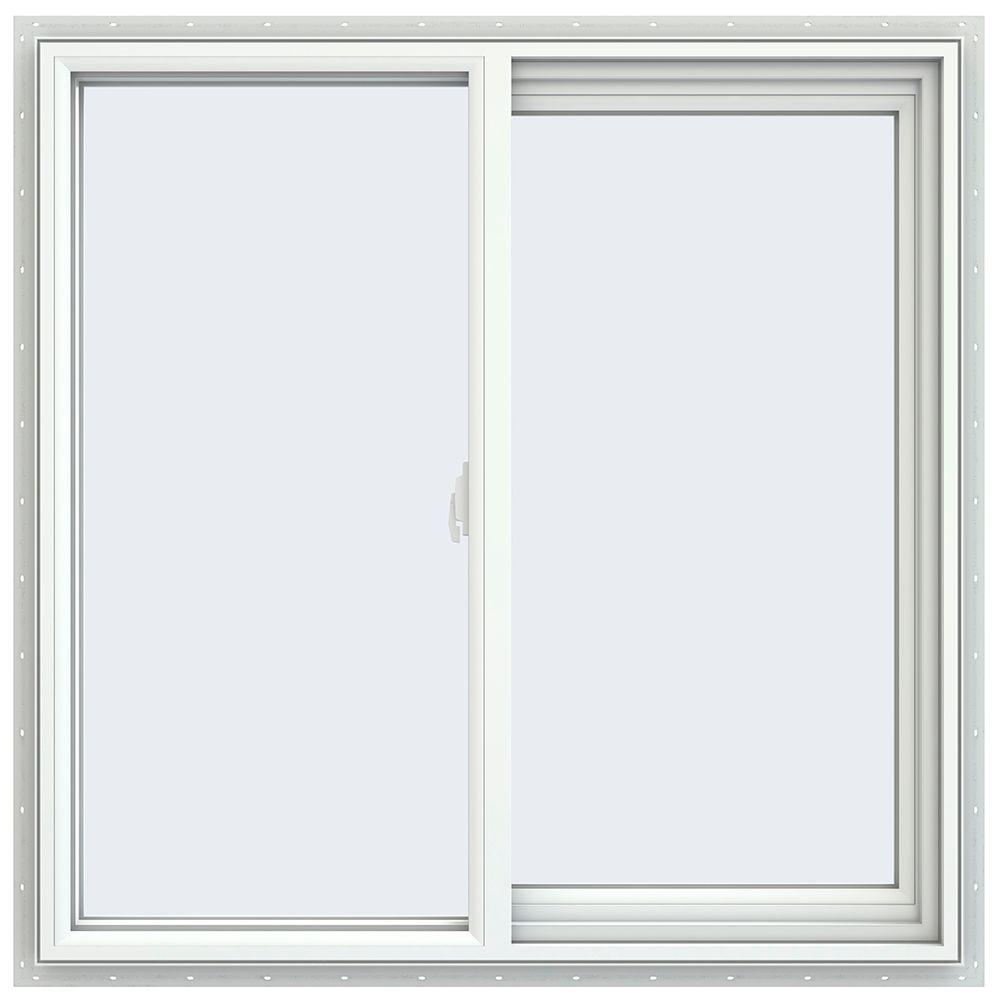 Jeld wen 35 5 in x 35 5 in v 2500 series right hand for Right window