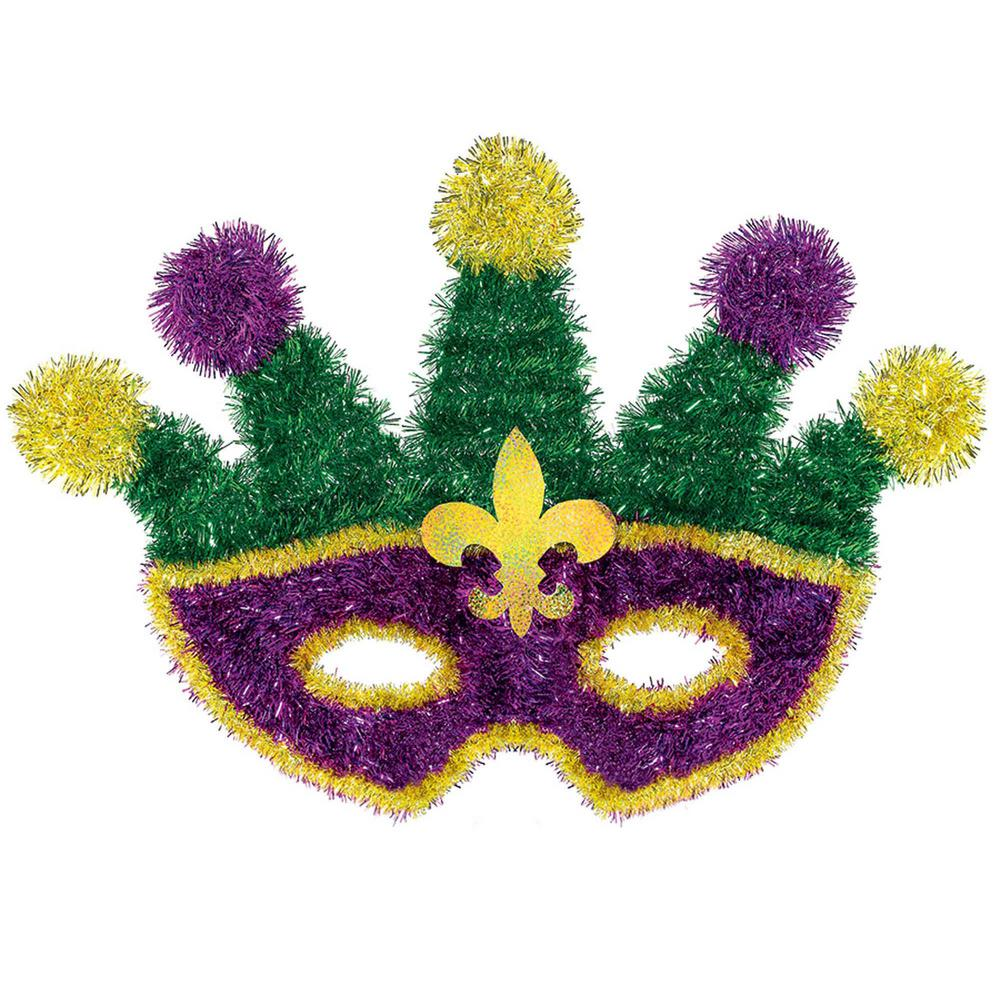 Amscan 13 In Mardi Gras Green Purple And Gold Tinsel Masquerade