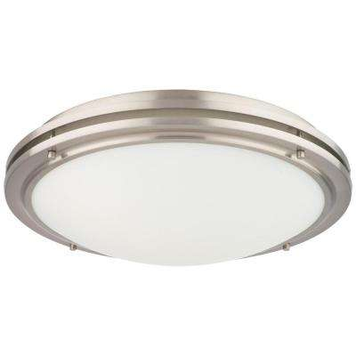 West End 2-Light Satin Nickel Ceiling Fixture