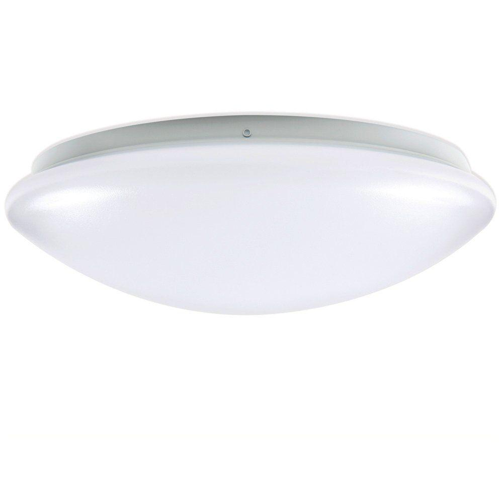 Hanging Light Round: EnviroLite 14 In. White LED Round Ceiling Flushmount