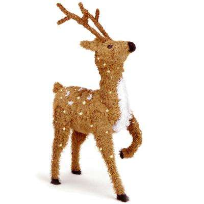 36 in. Prancing Reindeer with Clear Lights