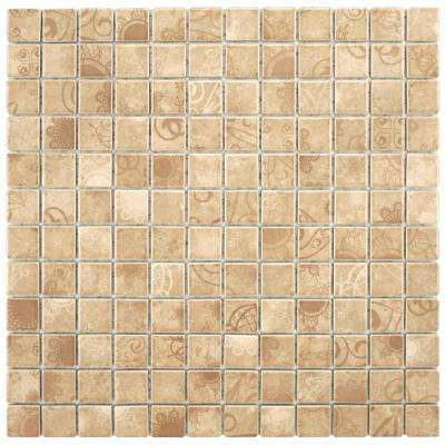 Laceo Beige 11-5/8 in. x 11-5/8 in. x 6 mm Porcelain Mosaic Tile