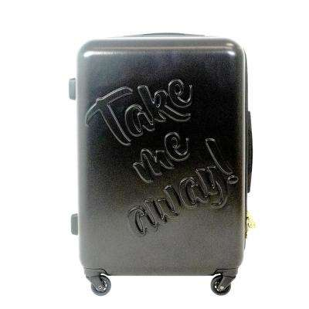 Take me Away 25 in. Black Rolling Luggage Suitcase