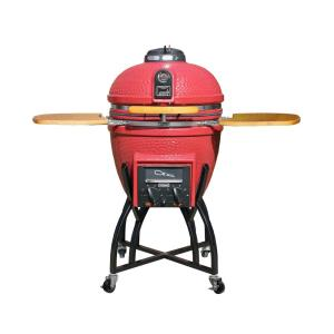 Vision Grills Kamado Professional Ceramic Charcoal Grill in Chili Red with Grill... by Vision Grills