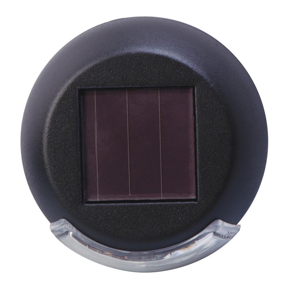 Rodric-Style Solar Black Integrated LED Mini Deck Light