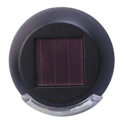 Rodric-Style Solar Black Integrated LED Mini Deck Light