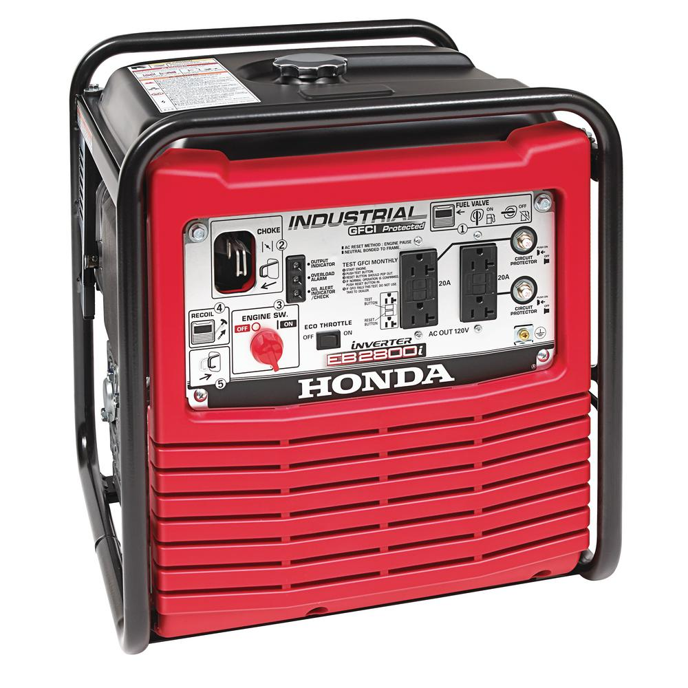 2,800-Watt Gasoline Powered Portable Industrial Inverter Generator with