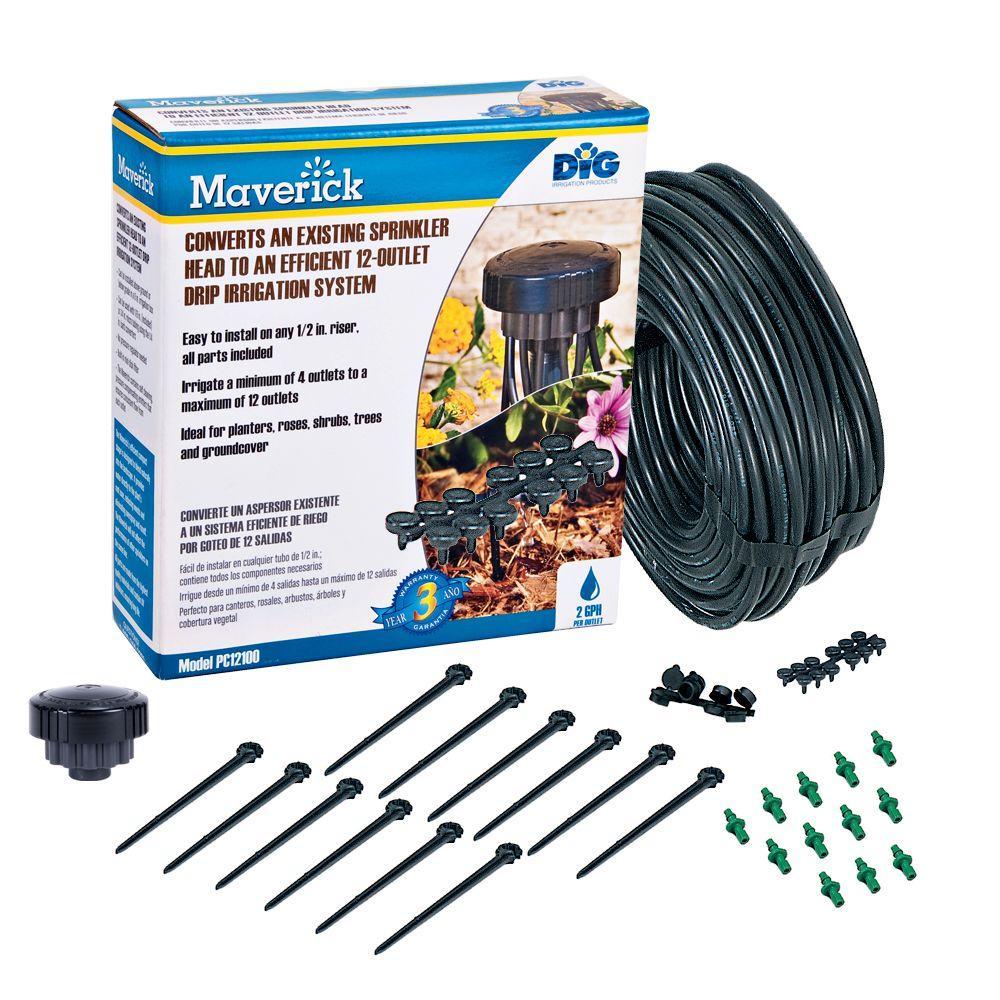 Maverick 2 GPH 12-Outlet Drip Manifold Kit