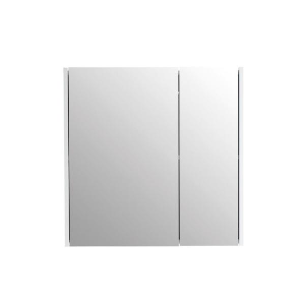 28 in. x 30 in. Surface Mount Medicine Cabinet in 2 Door White with 2 Shelves and Mirror