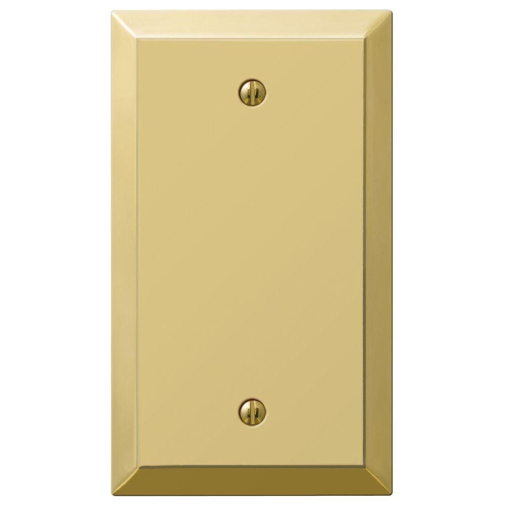 Century 1 Blank Wall Plate - Polished Brass