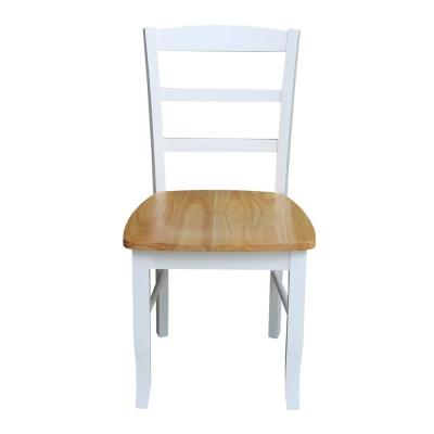 Madrid White and Natural Wood Dining Chair (Set of 2)