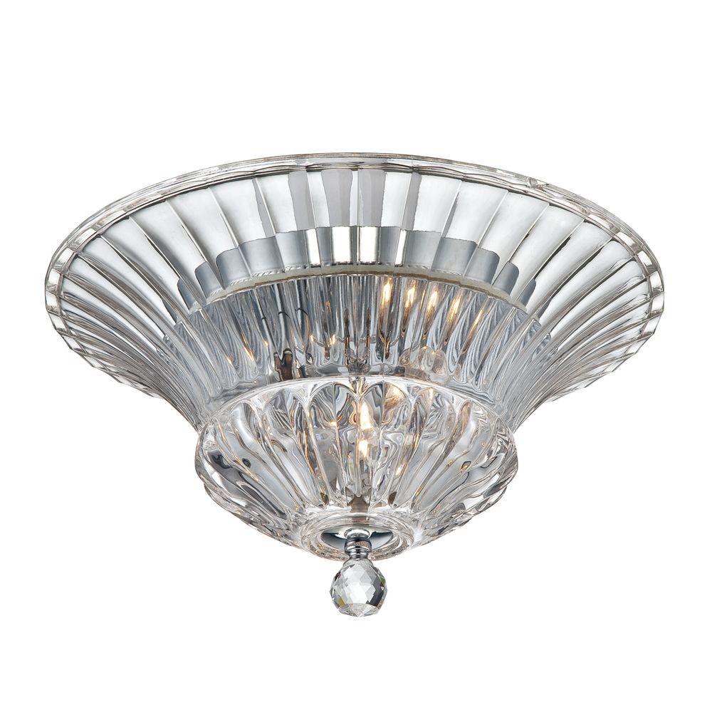 Eurofase Bellissa Collection 2-Light Chrome Clear Flushmount