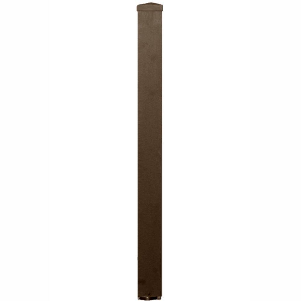null 3 in. x 3 in. x 44 in. Bronze Aluminum Post Kit