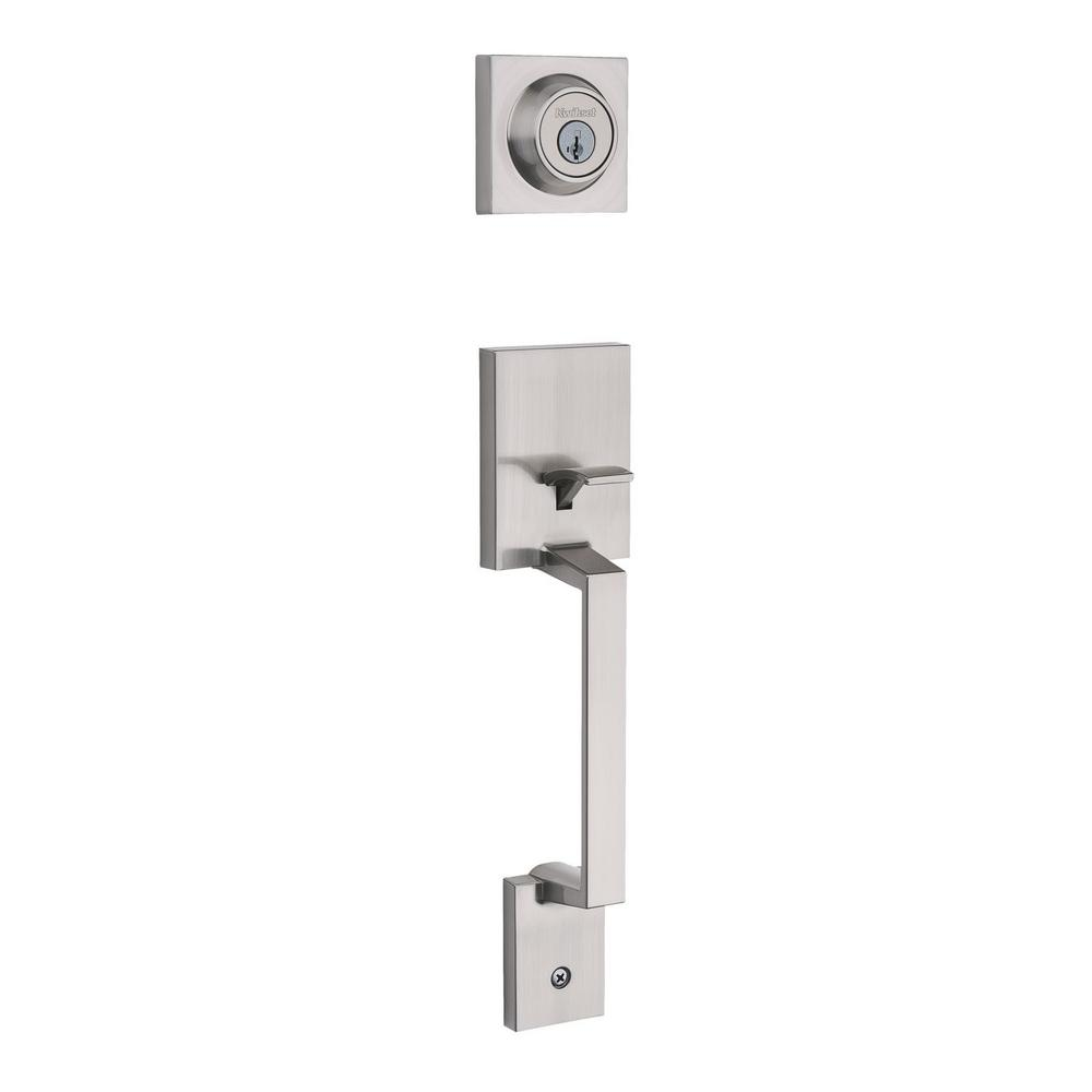 Amador Single Cylinder Satin Nickel Handleset Less Interior Pack