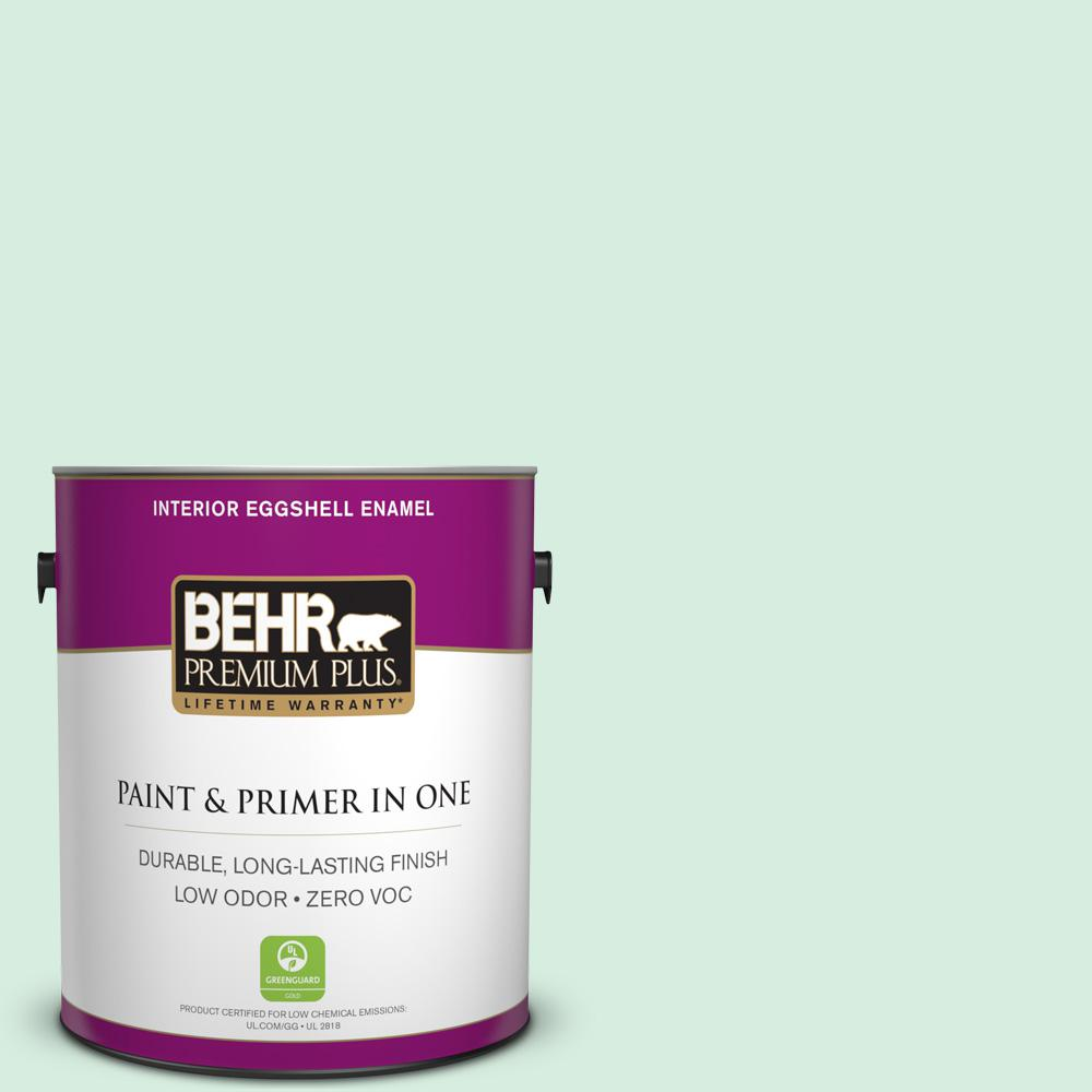 BEHR Premium Plus 1-gal. #470C-2 Winter Fresh Zero VOC Eggshell Enamel Interior Paint