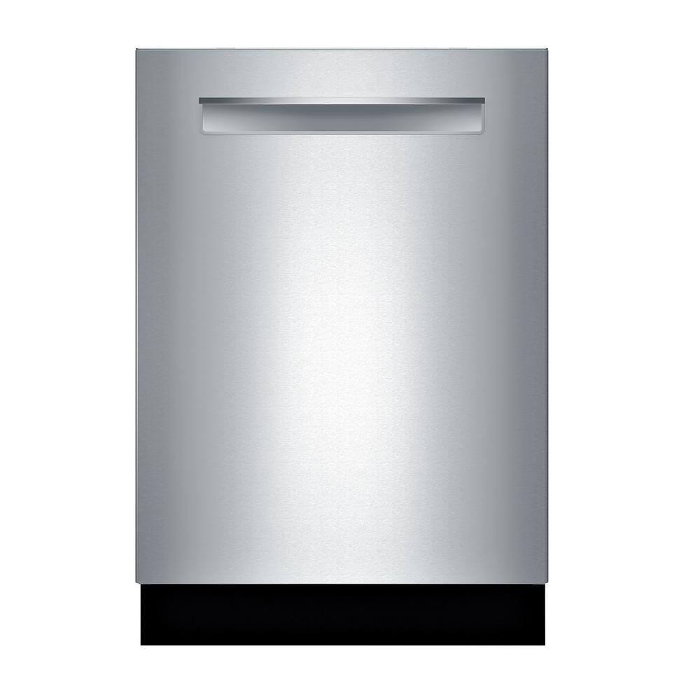 Bosch Bosch 500 Series Top Control Tall Tub Pocket Handle Dishwasher in Stainless Steel with Stainless Steel Tub, AutoAir, 44dBA, Silver