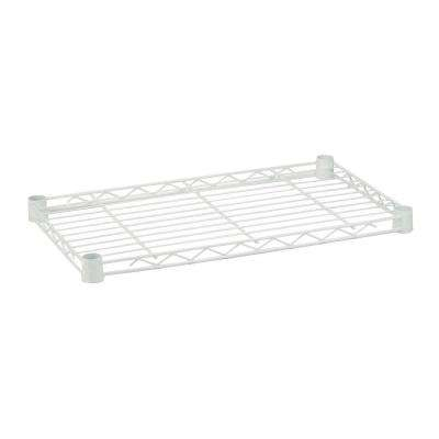 1 in. H x 36 in. W x 14 in. D 350 lbs. Weight Capacity Freestanding Steel Shelf in White