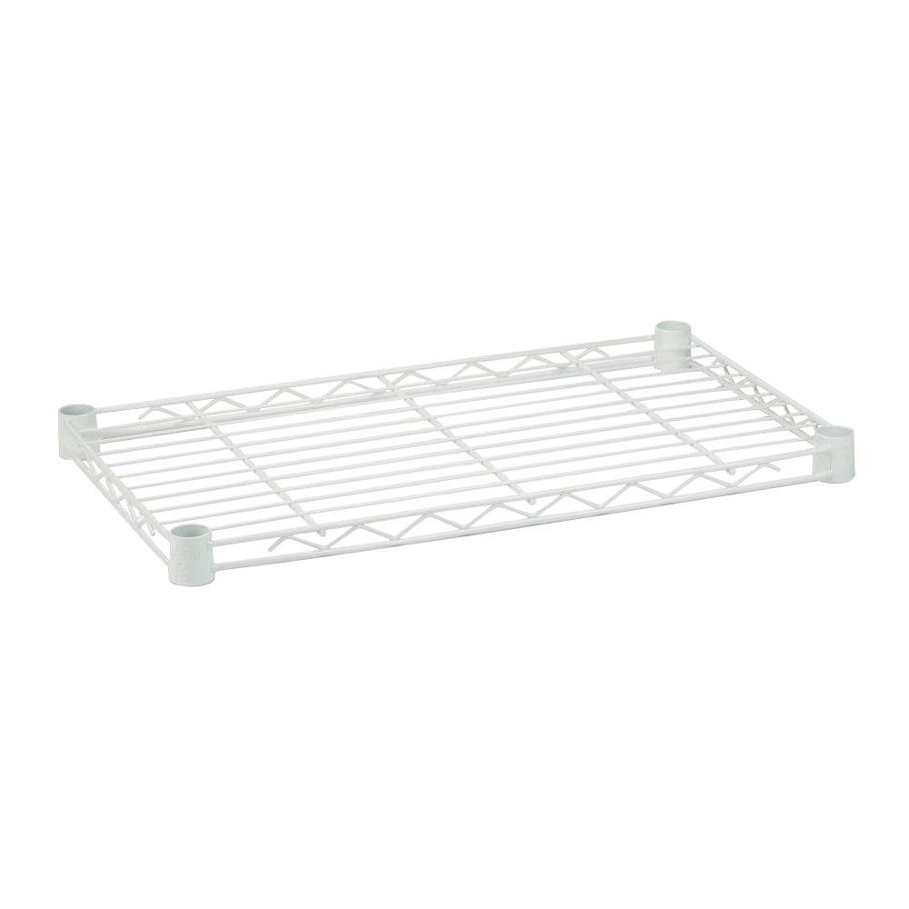 Honey-Can-Do 1 in. H x 36 in. W x 14 in. D 350 lbs. Weight Capacity Freestanding Steel Shelf in White
