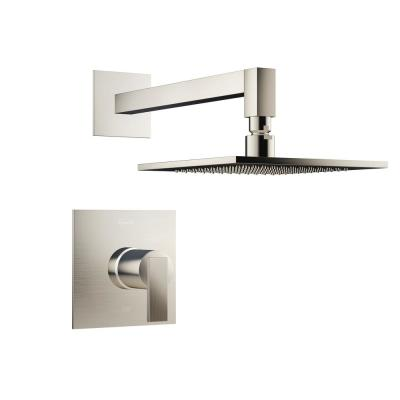 Mincio Single-Handle 1-Spray Square Shower Faucet in Brushed Nickel (Valve Included)