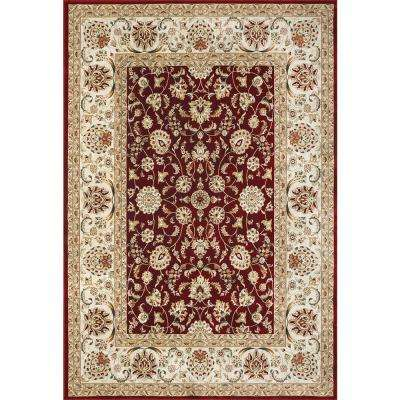 Cambridge Red 8 ft. x 10 ft. Indoor Area Rug