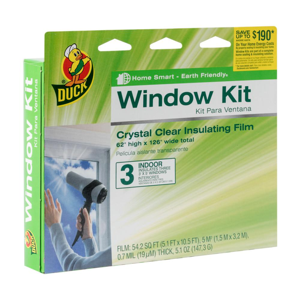 62 in. x 126 in. Crystal Clear Window Kit Shrink Film