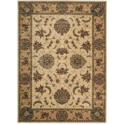 Cambridge Ivory/Gold 3 ft. 6 in. x 5 ft. 6 in. Area Rug