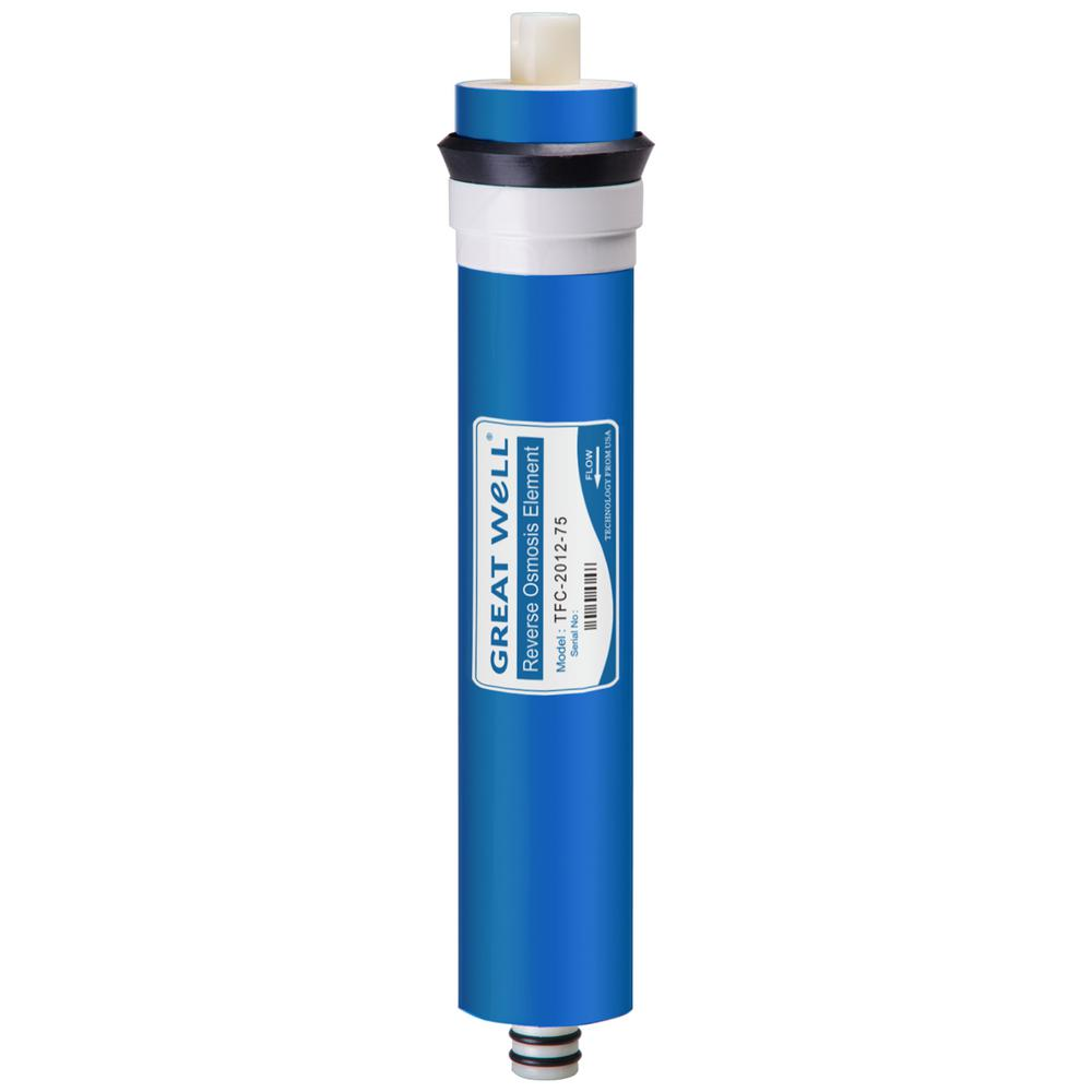iSpring FT15 5th Stage Inline Post Carbon Filter Replacement Cartridge 0.7 White