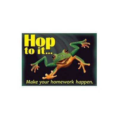 Hop To it Make Your Homework Poster