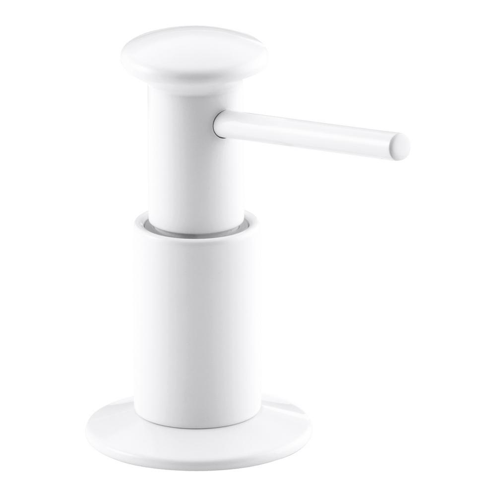 Kohler Soap And Lotion Dispenser In White K 9619 0 The Home Depot