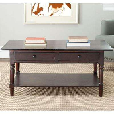 Boris Dark Cherry Storage Coffee Table