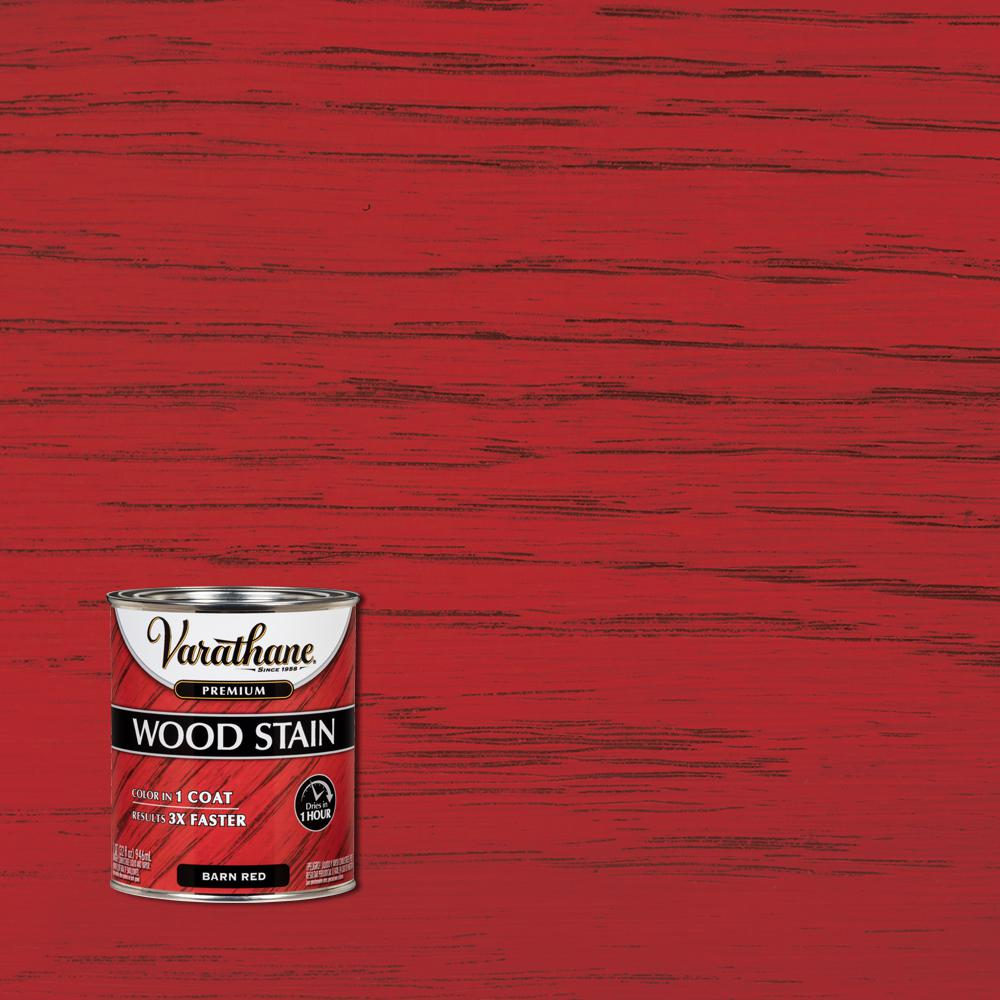 Varathane 1 qt. Barn Red Premium Fast Dry Interior Wood Stain