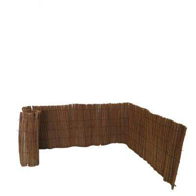 12 in. H x 96 in. L Peeled Mohangny Willow Border Fence/Edging