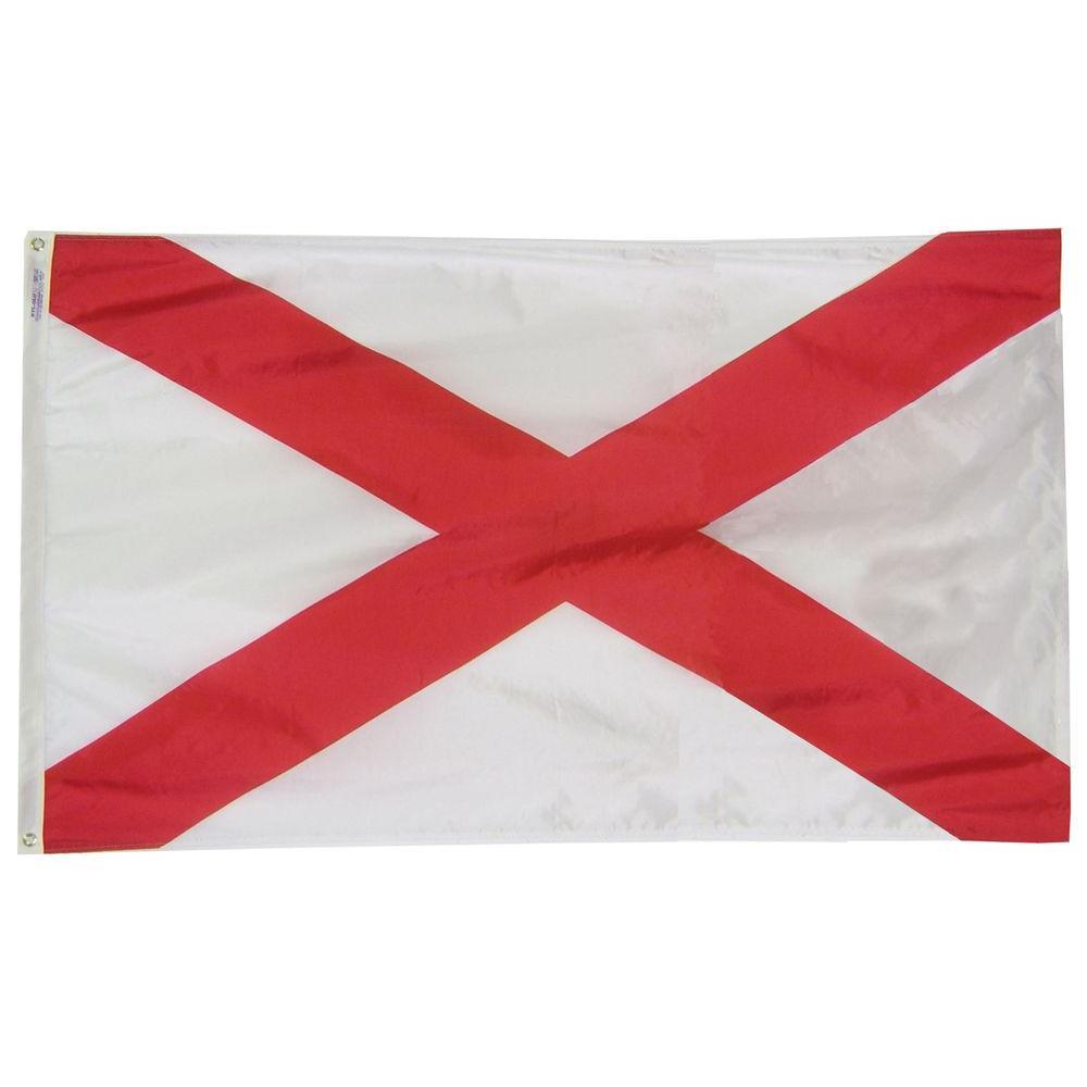 2 ft. x 3 ft. Nylon Alabama State Flag