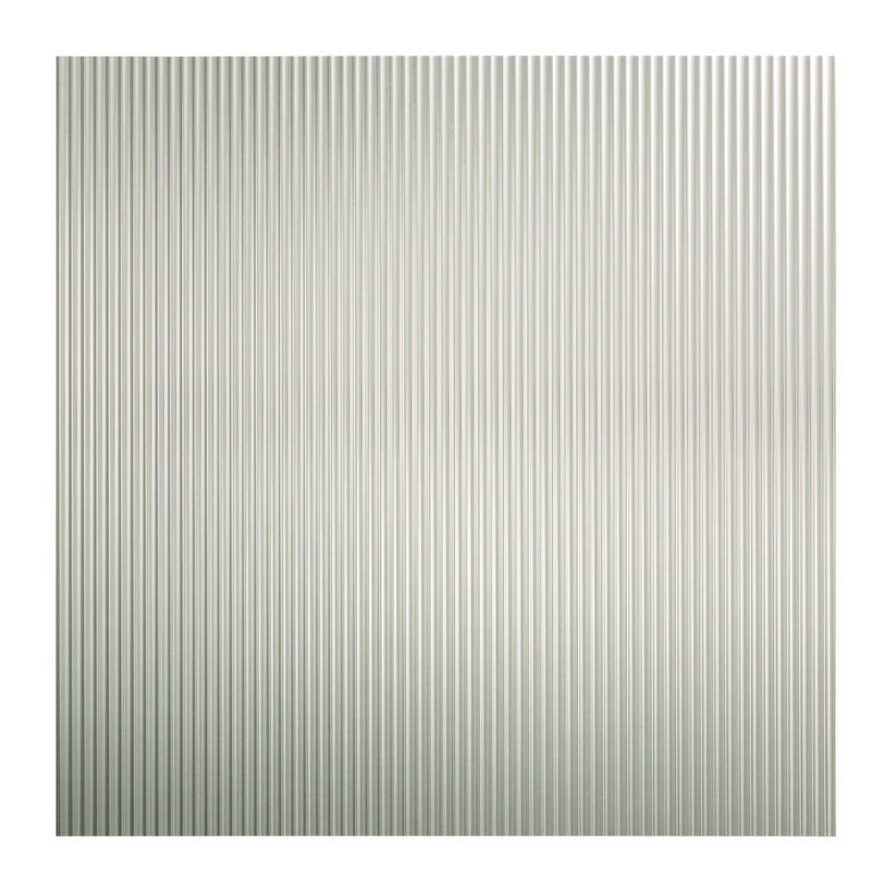 Fasade Rib 2 Ft X 2 Ft Lay In Ceiling Tile In Brushed Aluminum