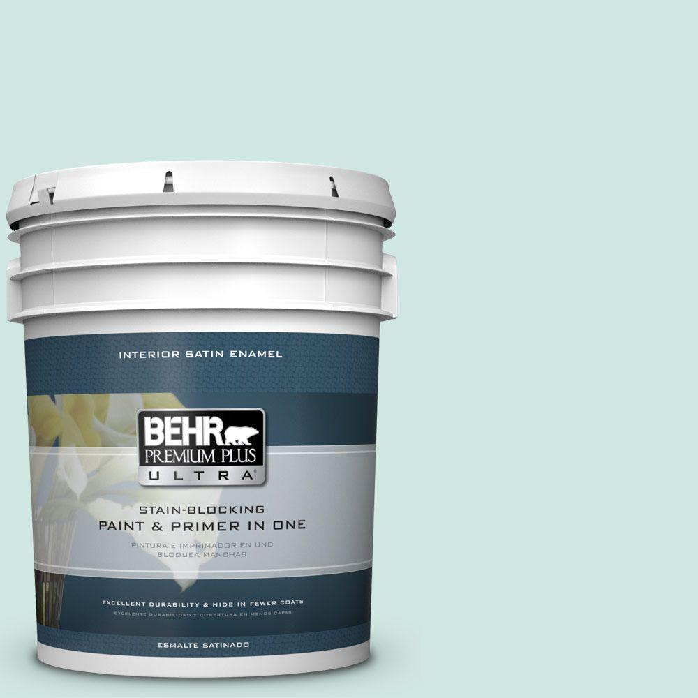 5 gal. #HDC-CT-26A Seaglass Satin Enamel Interior Paint