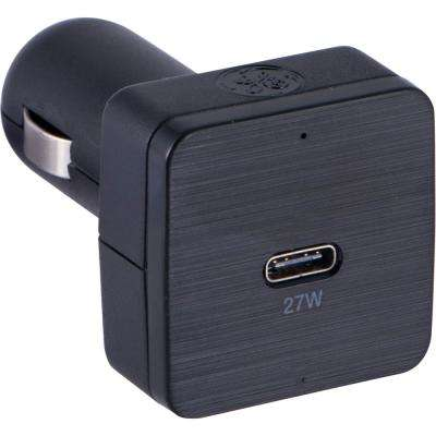 27-Watt High Speed Single Port USB C Car Charger with Power Delivery, Black