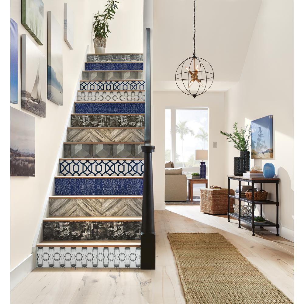 Blue Byzantine Peel and Stick Wallpaper