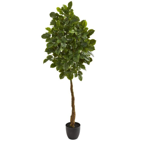 Nearly Natural Indoor 5 in. Beech Leaf Artificial Tree 9112