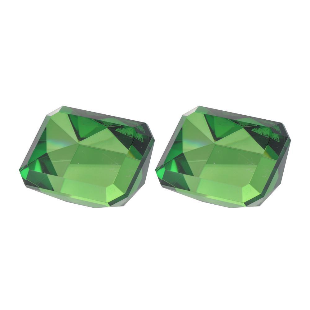 Rectangular Faux Emerald Green Sculpture (Set of 2)